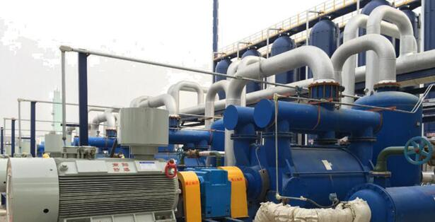 Liquid ring vacuum pump for refining in the petrochemical industry
