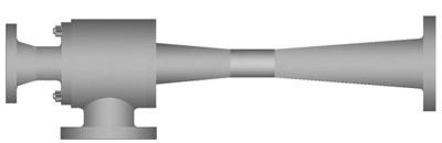 Single stage steam jet vacuum pump