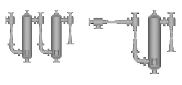 Three stage steam jet vacuum pump
