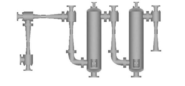 Five stage steam jet vacuum pump