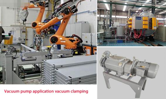 Dry screw vacuum pump application