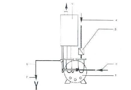 Liquid ring vacuum pump system