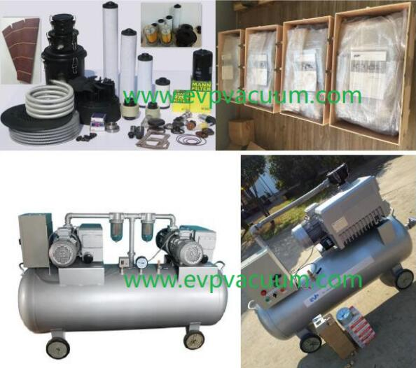 Medical vacuum pump unit