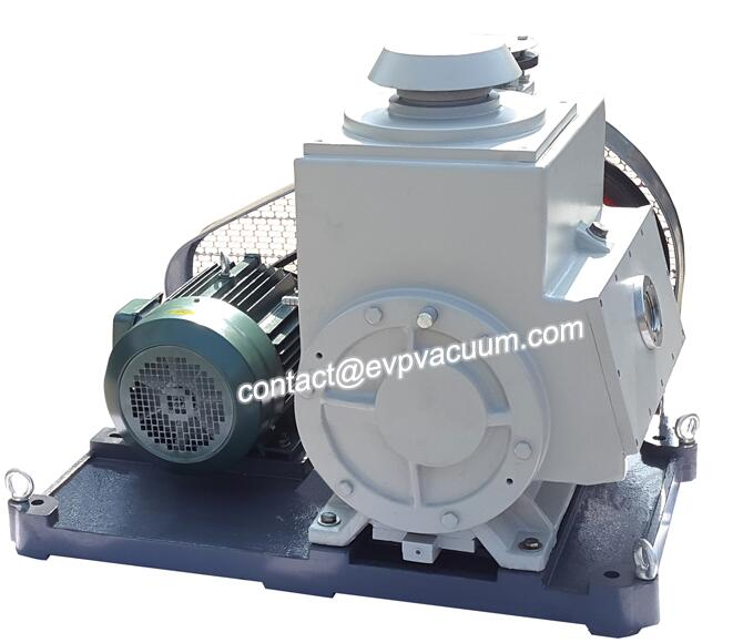 Rotary vane vacuum pump for vacuum coating
