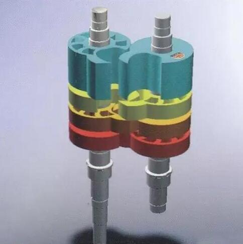 Claw type dry vacuum pump