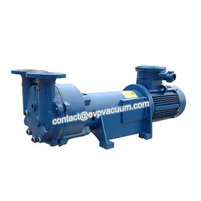 Liquid ring vacuum pump vacuum dewatering in paper pulping