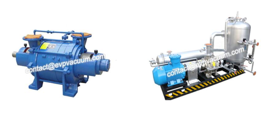 Two stage liquid ring compressor
