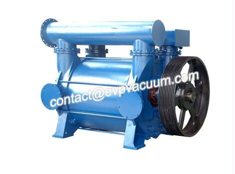 Liquid ring vacuum pump compressor