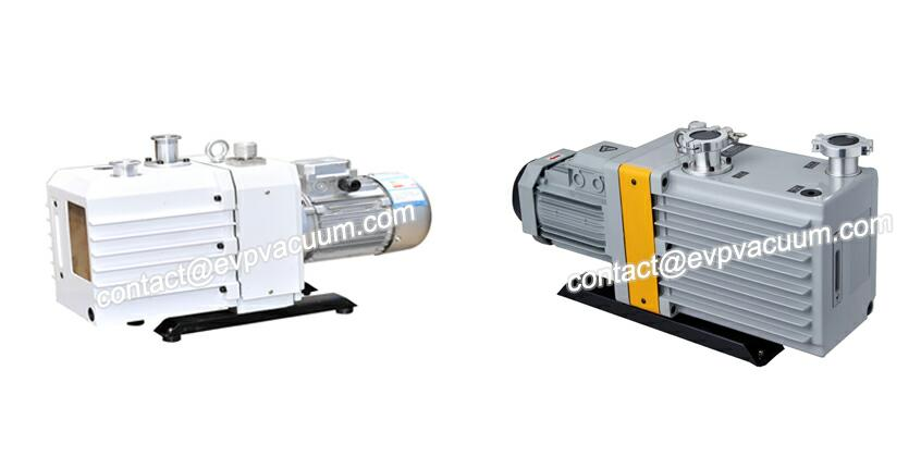 Two-stage rotary vane vacuum pump