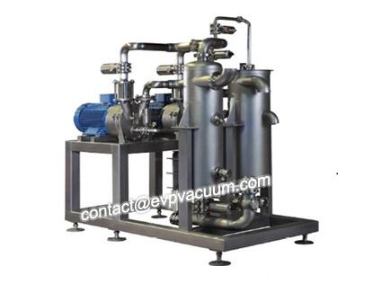 Vacuum pump for exhaust compression