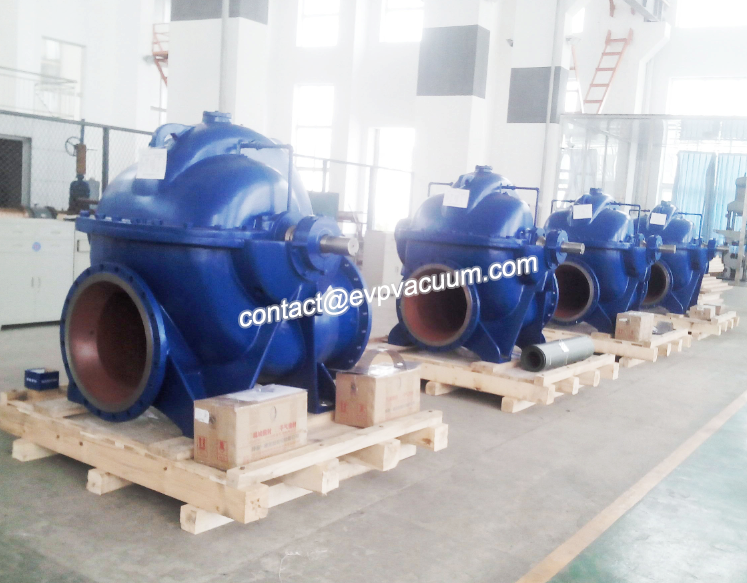 Axial split pump for irrigation product display