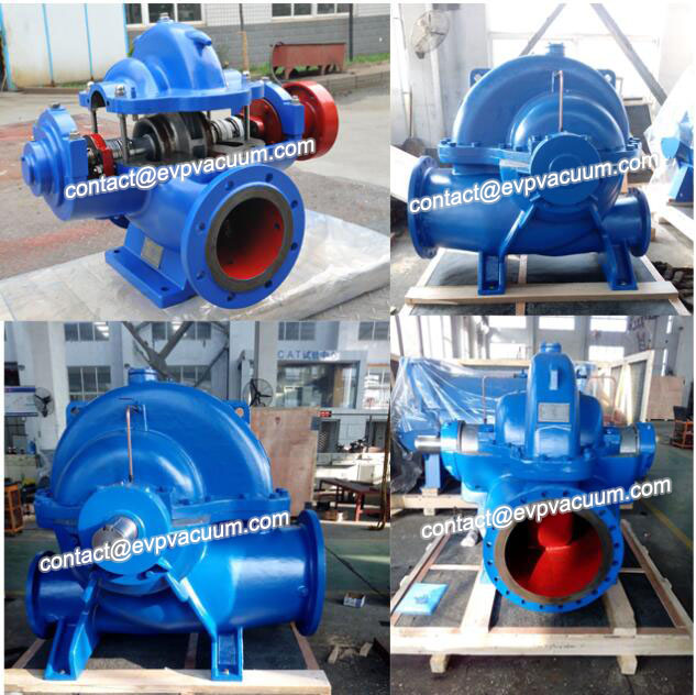 Axial split pump for irrigation