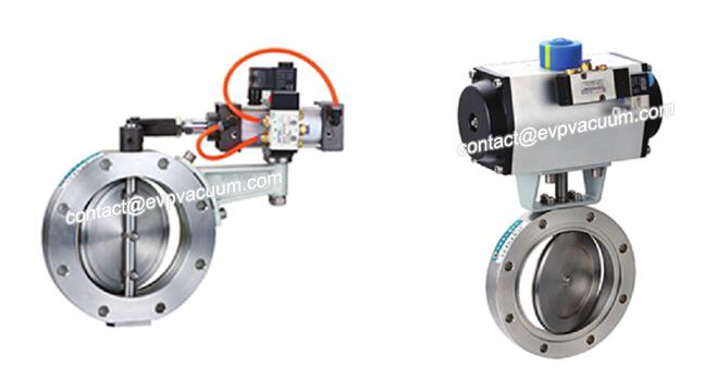 High vacuum pneumatic butterfly valve
