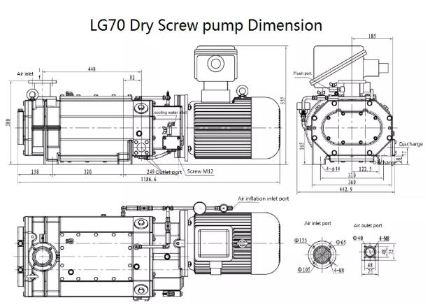 Dry Vacuum Pump installation dimension