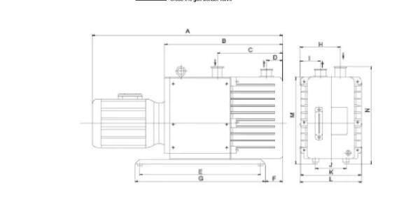 Rotary Vane Vacuum Pump Supply Installation size