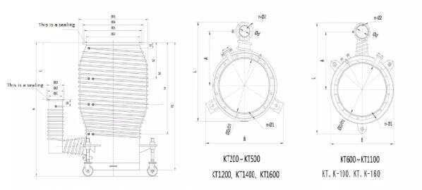 Oil Diffusion Vacuum Pump Supply Installation size