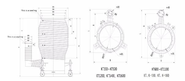 Oil Diffusion Vacuum Pump price installation dimensions