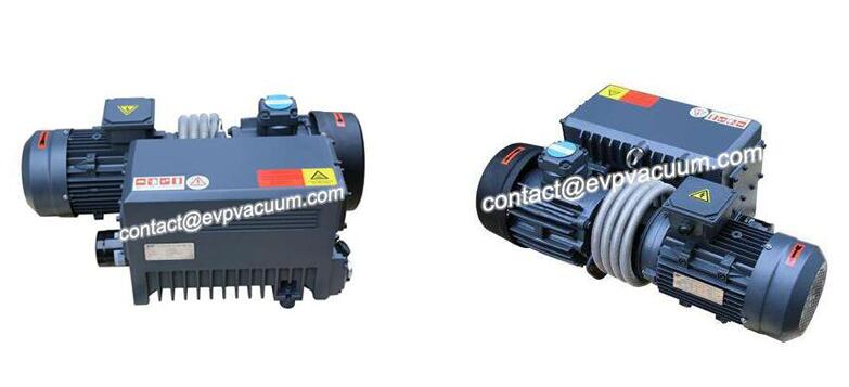 What kind of vacuum pump is used in the suction machine?