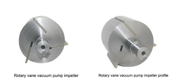 Rotary vane vacuum pump impeller
