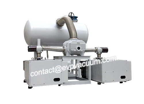 Vacuum system for fly ash treatment