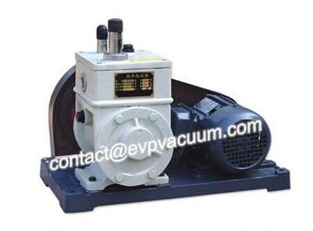 Rotary vane vacuum pump in natural gas treatment
