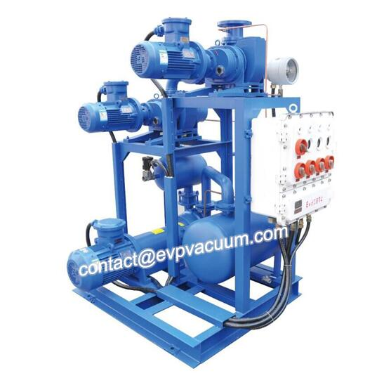 Roots liquid ring unit for silicone