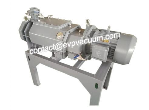 Screw vacuum pump for vacuum drying of paper tray