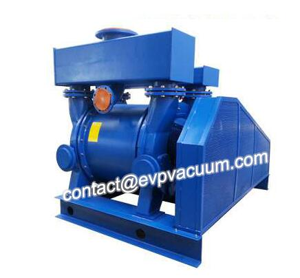 Vacuum pump for the mud mixer