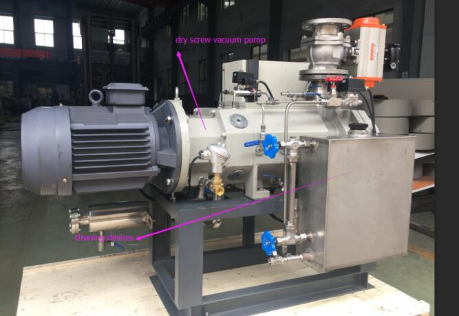 dry screw vacuum pump in cedar oil distillation