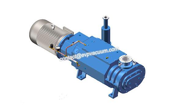 Dry screw vacuum pump for gas migration