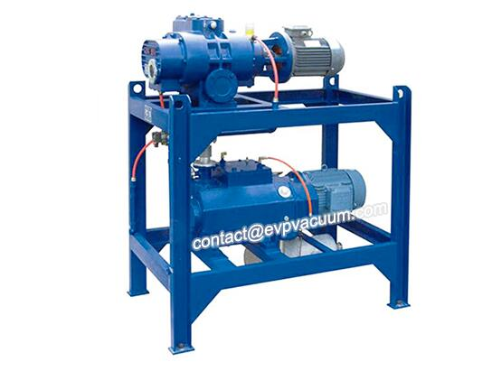 Dry screw vacuum pump in plasma spray coating system