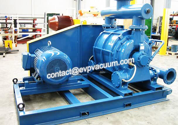 Large capacity liquid ring vacuum pump