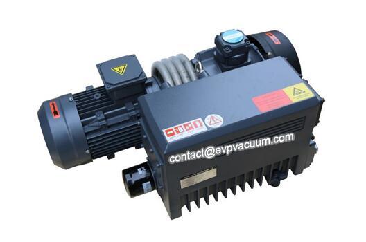 Rotary vane vacuum pump in cutting machine