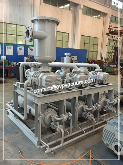 Vacuum pump unit commonly used in power plants