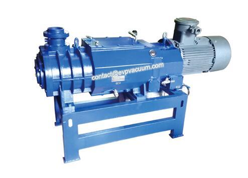 Air-cooled dry composite screw vacuum pump
