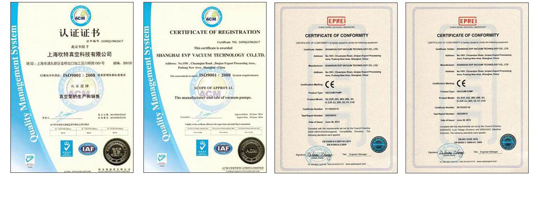 CE certification of vacuum pump