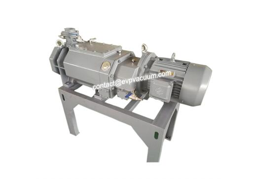 Dry screw vacuum pump in silicon nitride process