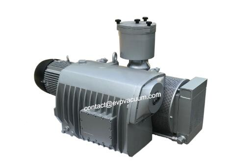 Rotary vane vacuum pump for mass resin infusion process in shipbuilding