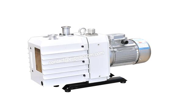 Rotary vane vacuum pump in offshore heavy oil field