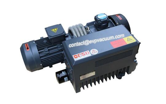 Rotary vane vacuum pump in oxidant