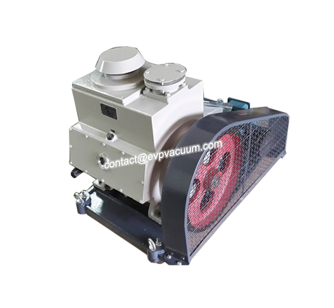 Rotary vane vacuum pump in paper bag production
