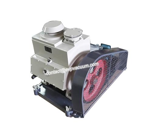 Rotary vane vacuum pump in paper bag production