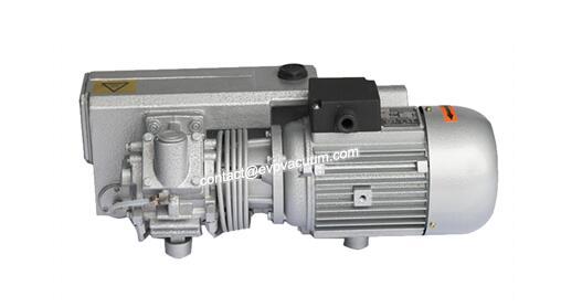 Rotary vane vacuum pump water absorption process