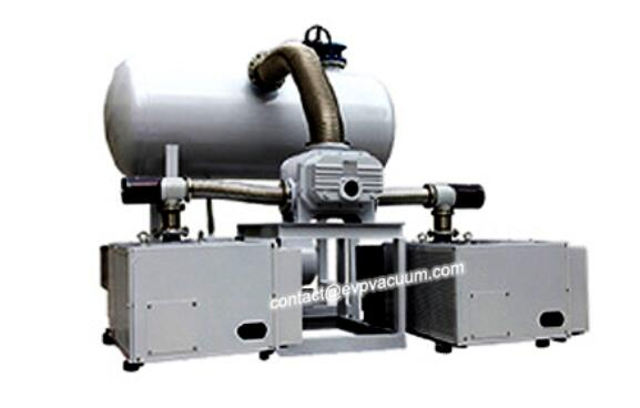 Vacuum system for dust treatment