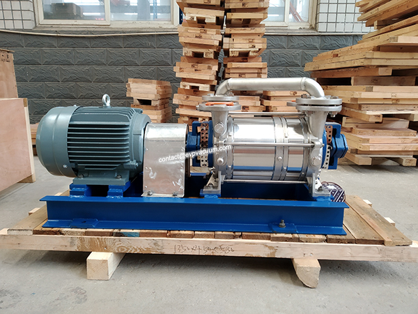 Double stage water ring vacuum pump in evaporator industry