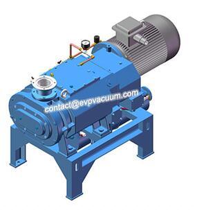 Dry vacuum pump degassing in steel