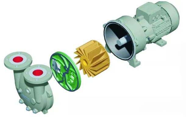How to install the components of water ring vacuum pump