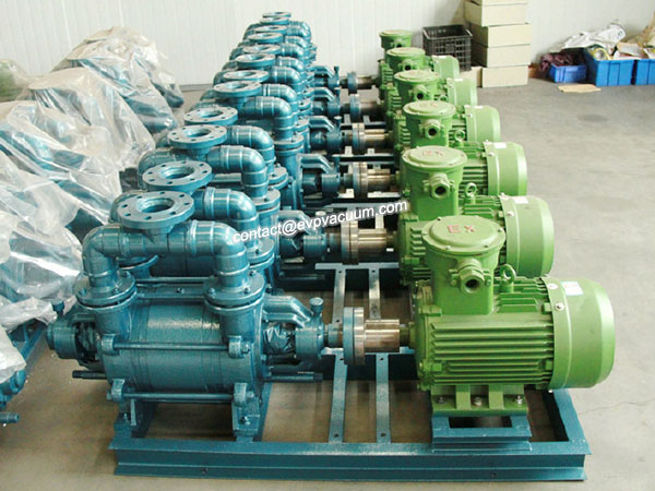 Liquid ring vacuum pump action of which several types