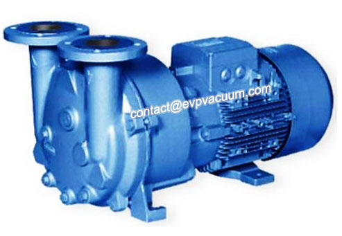Liquid ring vacuum pump complete with motor