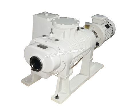Roots vacuum pump in reduced pressure tower system